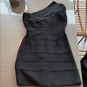 One shoulder Herve Leger bandage dress